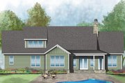 Craftsman Style House Plan - 4 Beds 3 Baths 2294 Sq/Ft Plan #929-1036 Exterior - Rear Elevation