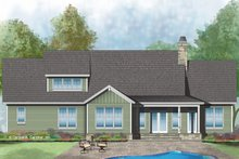 House Plan Design - Craftsman Exterior - Rear Elevation Plan #929-1036