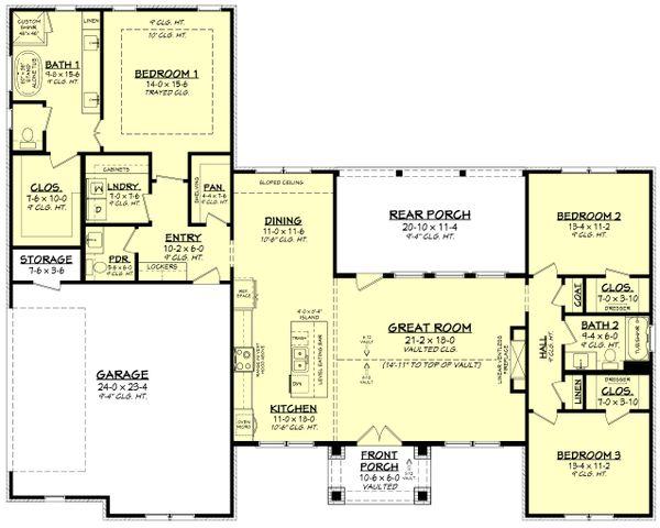 Dream House Plan - Ranch Floor Plan - Main Floor Plan #430-252