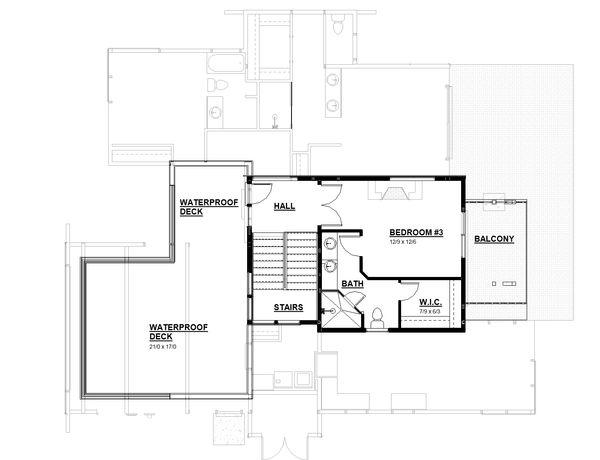 Modern Floor Plan - Upper Floor Plan Plan #895-113