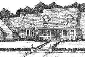 Farmhouse Exterior - Front Elevation Plan #310-624