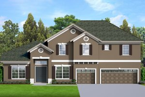 Traditional Exterior - Front Elevation Plan #1058-199