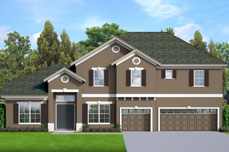 Dream House Plan - Traditional Exterior - Front Elevation Plan #1058-199