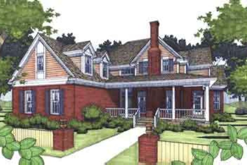 Dream House Plan - Country Exterior - Front Elevation Plan #120-136