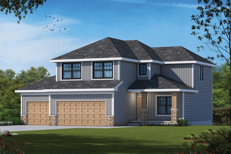 Farmhouse Style House Plan - 4 Beds 3.5 Baths 2373 Sq/Ft Plan #20-2480