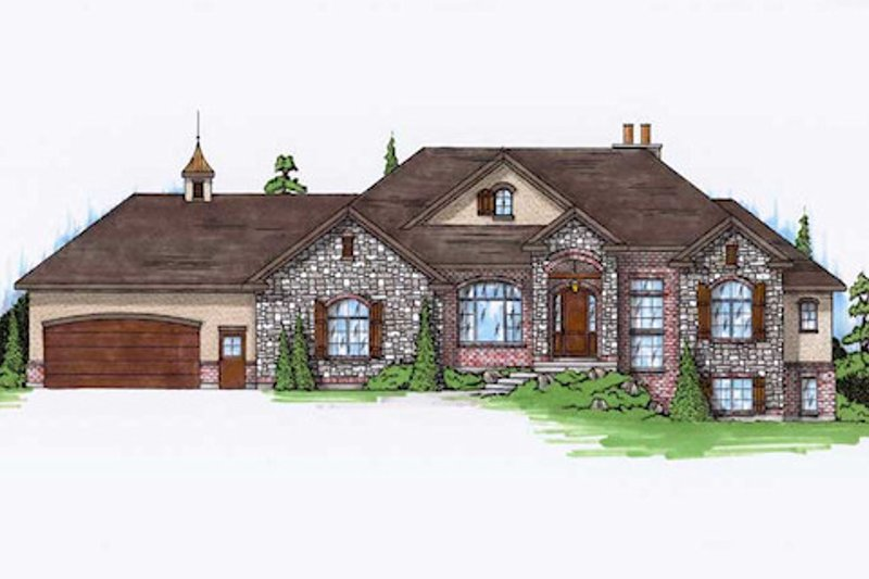 European Exterior - Front Elevation Plan #5-251