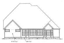 European Exterior - Rear Elevation Plan #20-300