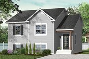 Country Style House Plan - 2 Beds 1 Baths 850 Sq/Ft Plan #23-2228 Exterior - Front Elevation