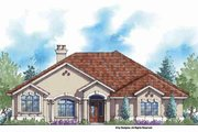 Country Style House Plan - 3 Beds 3 Baths 2780 Sq/Ft Plan #938-48 Exterior - Front Elevation