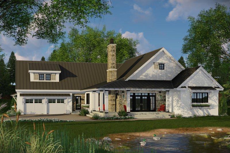 Dream House Plan - Farmhouse Exterior - Front Elevation Plan #51-1131
