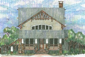 Craftsman Exterior - Front Elevation Plan #426-8