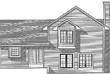 House Plan Design - Traditional Exterior - Rear Elevation Plan #70-181