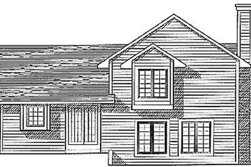 Traditional Exterior - Rear Elevation Plan #70-181 - Houseplans.com