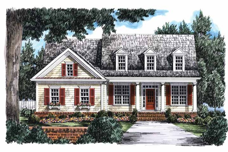 Country Exterior - Front Elevation Plan #927-670