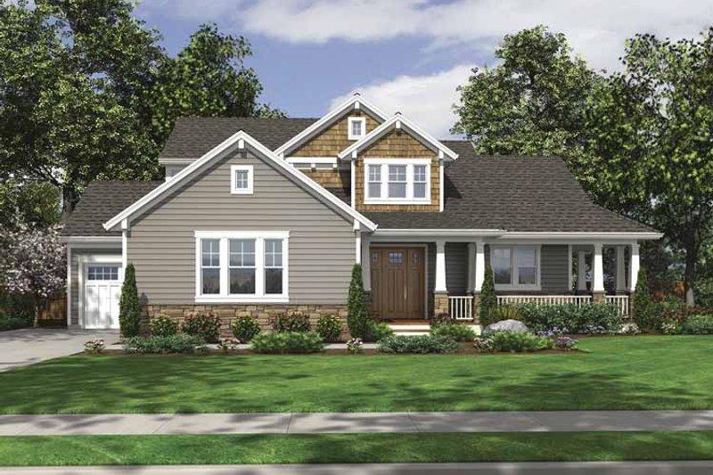 Architectural House Design - Craftsman Exterior - Front Elevation Plan #46-795