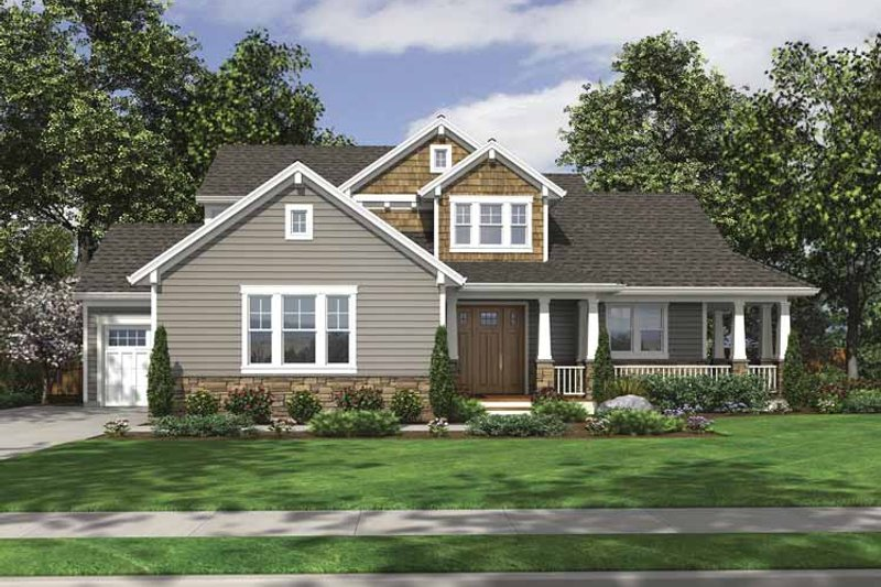 Craftsman Exterior - Front Elevation Plan #46-795