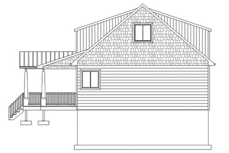 Cabin Exterior - Other Elevation Plan #1060-24 - Houseplans.com