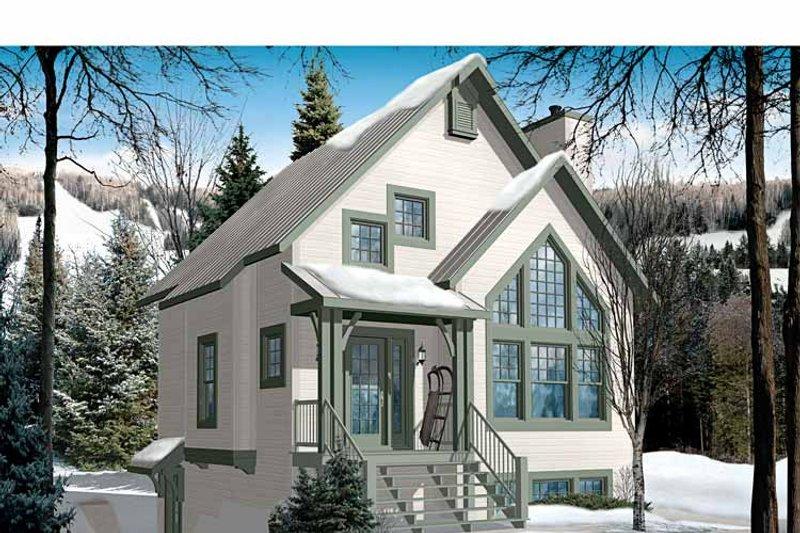 European Exterior - Front Elevation Plan #23-2490 - Houseplans.com