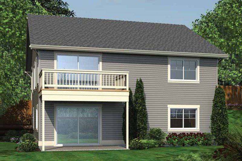 Ranch Exterior - Rear Elevation Plan #132-540 - Houseplans.com