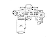 Tudor Floor Plan - Main Floor Plan Plan #929-947