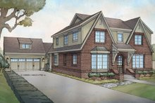 Tudor Exterior - Front Elevation Plan #928-257