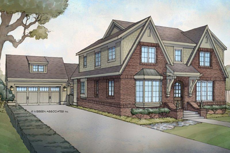 Tudor Exterior - Front Elevation Plan #928-257 - Houseplans.com