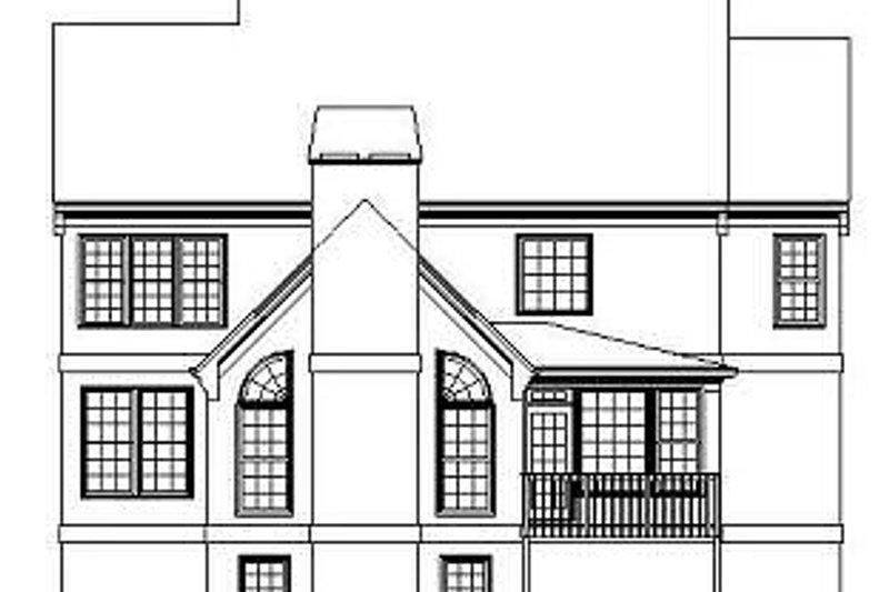 Colonial Exterior - Rear Elevation Plan #119-289 - Houseplans.com