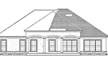 House Plan Design - Mediterranean Exterior - Rear Elevation Plan #17-3368