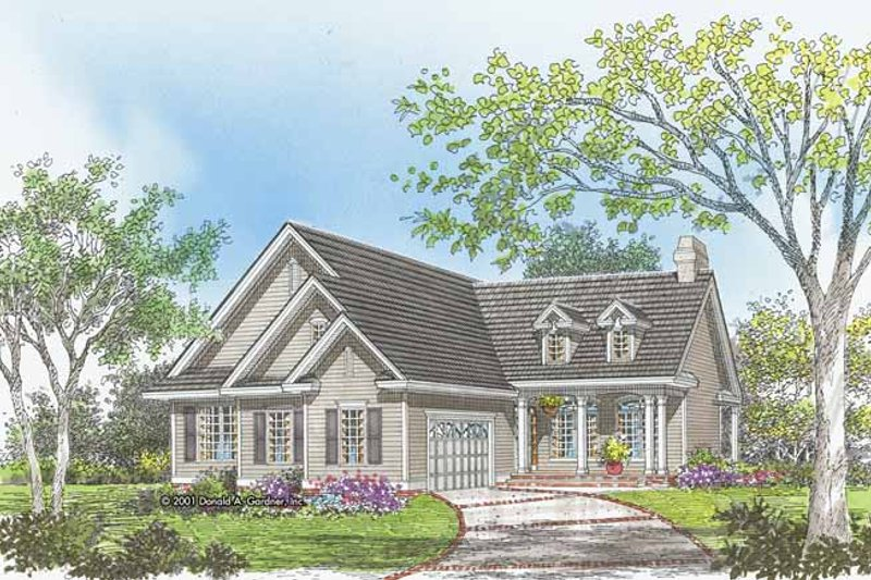 Home Plan - Country Exterior - Front Elevation Plan #929-620