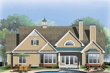 Home Plan - Ranch Exterior - Rear Elevation Plan #929-858