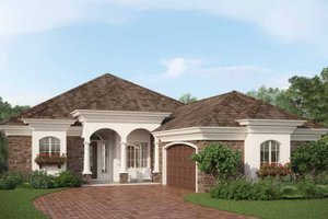 Country Exterior - Front Elevation Plan #938-14