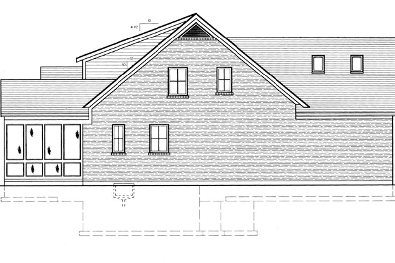 Country Exterior - Other Elevation Plan #46-677 - Houseplans.com
