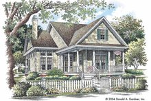 Country Exterior - Front Elevation Plan #929-719
