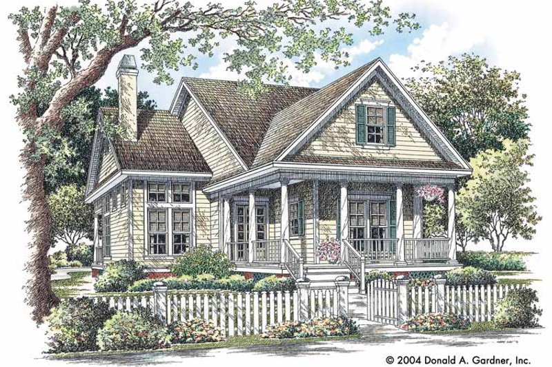 Home Plan - Country Exterior - Front Elevation Plan #929-719