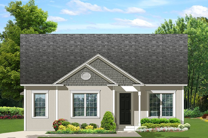 Ranch Exterior - Front Elevation Plan #1058-138