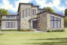Contemporary Exterior - Front Elevation Plan #17-3384