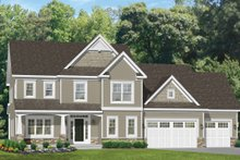 Dream House Plan - Traditional Exterior - Front Elevation Plan #1010-128