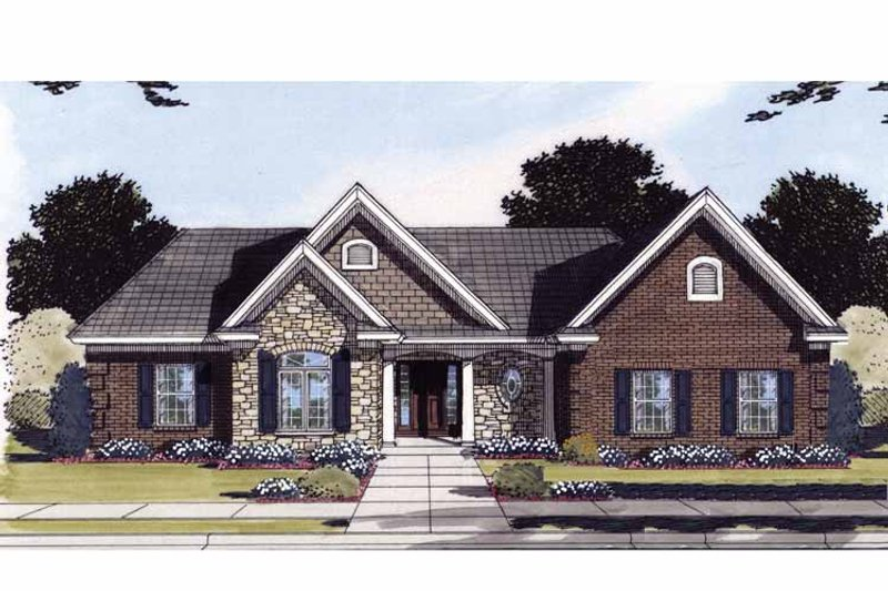 Ranch Exterior - Front Elevation Plan #46-828 - Houseplans.com