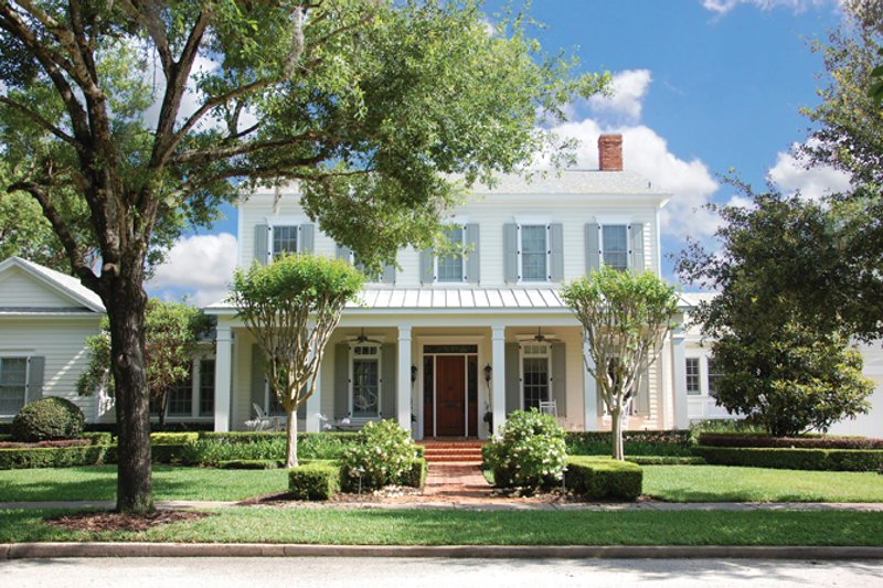 Colonial Exterior - Front Elevation Plan #1058-9