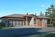 Contemporary Style House Plan - 3 Beds 3.5 Baths 3584 Sq/Ft Plan #1066-123