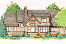 House Plan Design - Craftsman Exterior - Rear Elevation Plan #929-934