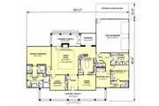 Southern Style House Plan - 4 Beds 2.5 Baths 2614 Sq/Ft Plan #44-126 Floor Plan - Main Floor Plan