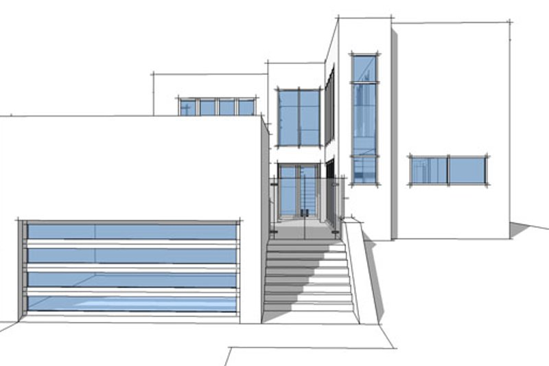 Contemporary Exterior - Front Elevation Plan #64-307 - Houseplans.com