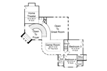 Mediterranean Floor Plan - Upper Floor Plan Plan #952-196