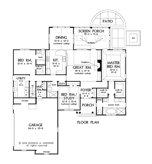 Traditional Floor Plan - Main Floor Plan #929-959