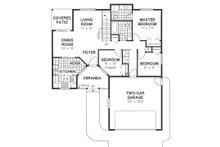 Ranch Floor Plan - Main Floor Plan Plan #18-1001