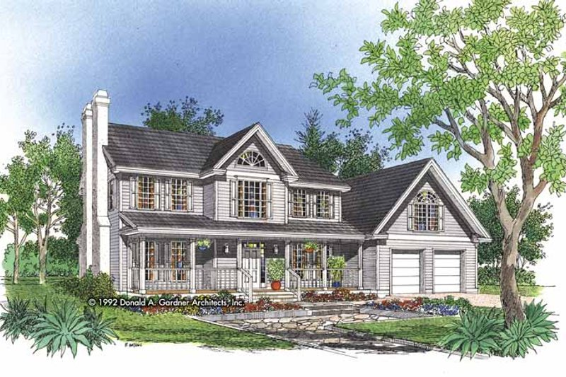 Dream House Plan - Country Exterior - Front Elevation Plan #929-483