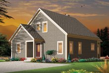 House Plan Design - European Exterior - Rear Elevation Plan #23-2494
