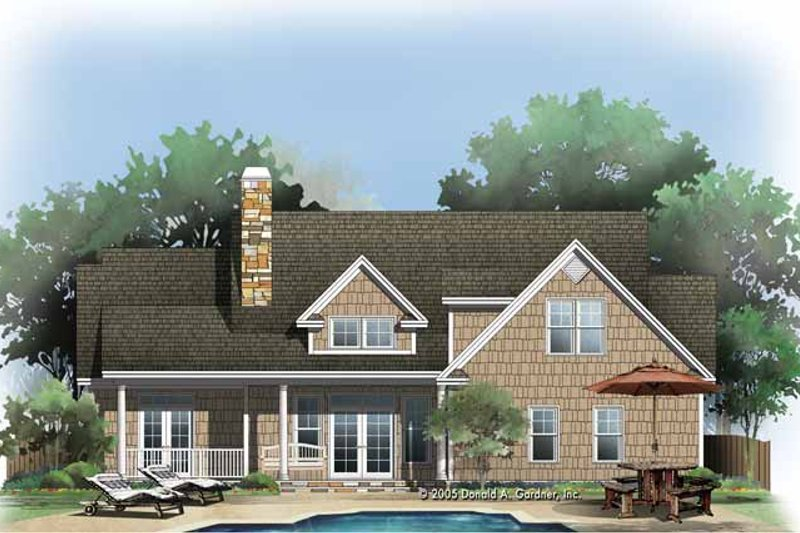 Craftsman Exterior - Rear Elevation Plan #929-774 - Houseplans.com