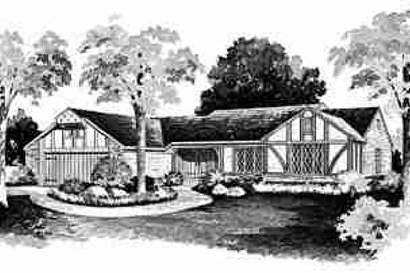 House Blueprint - European Exterior - Front Elevation Plan #72-299